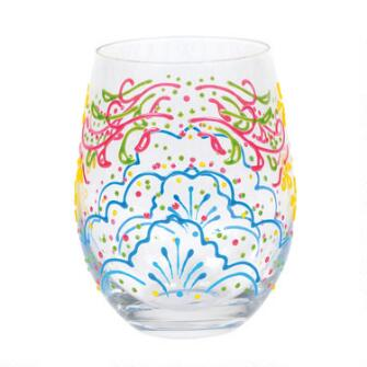Rose Henna Stemless Glass - 6007012