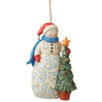 Snowman with Tree Ornament - 6009468