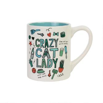 CRAZT CAT LADY 14 OX MUG - ND6009319
